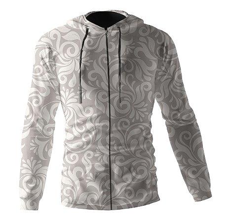 Jaqueta Blusa de Zíper Corta Vento Estampa Full Floral Slim