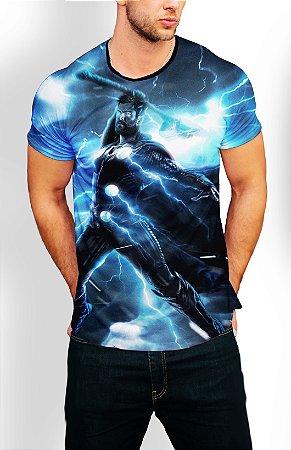 Camiseta Longline Estampa Full Thor Vingadores Ultimato