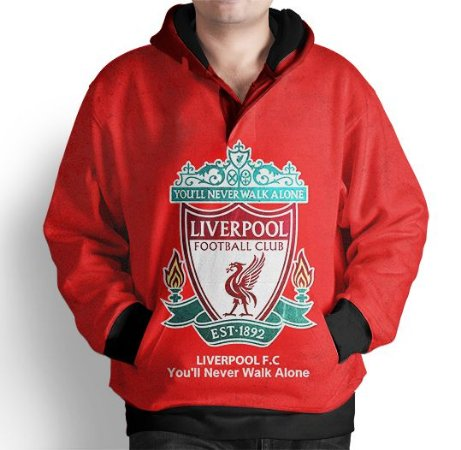 Blusa De Frio Moletom Estampada Liverpool