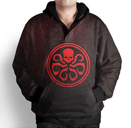 Blusa De Frio Moletom Estampada Hydra Agents Of Shield