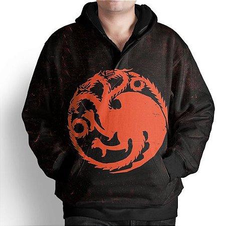 Blusa De Frio Moletom Estampa Full GOT Targaryen