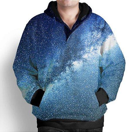 Blusa De Frio Moletom Estampa Full Galaxia