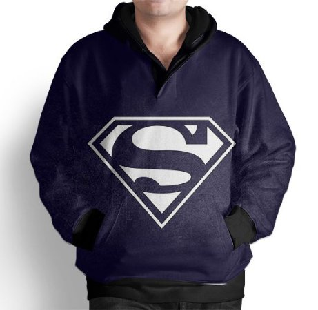 Blusa De Frio Moletom Full Estampado Super Man