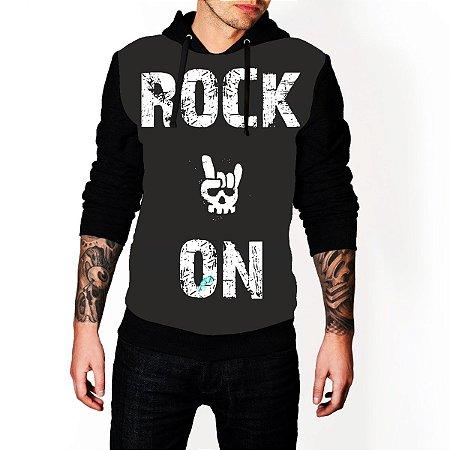 Blusa De Frio Rock ON Estampa Full Moletom Unissex
