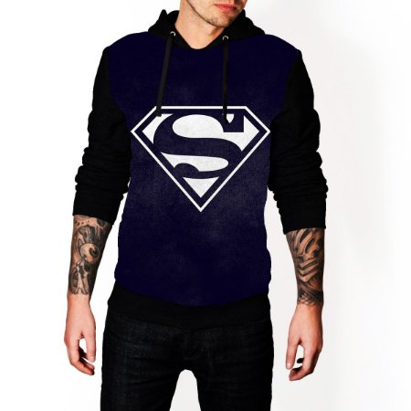 Blusa De Frio Super Man Estampa Full Moletom Unissex