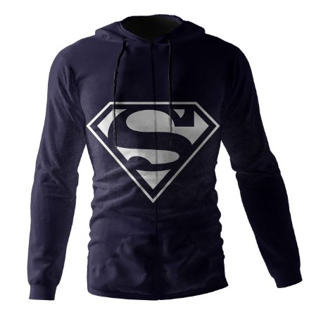 Jaqueta Blusa de Zíper Corta Vento Estampa Full SuperMan