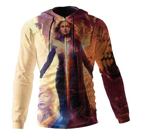 Jaqueta Blusa de Zíper Corta Vento Estampa Full Xmen