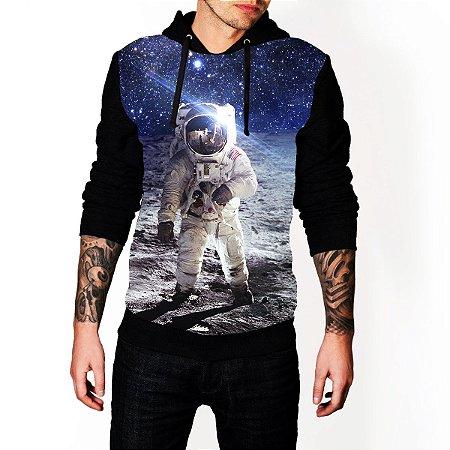 Blusa De Frio Estampa Full Astronauta Moletom Unissex