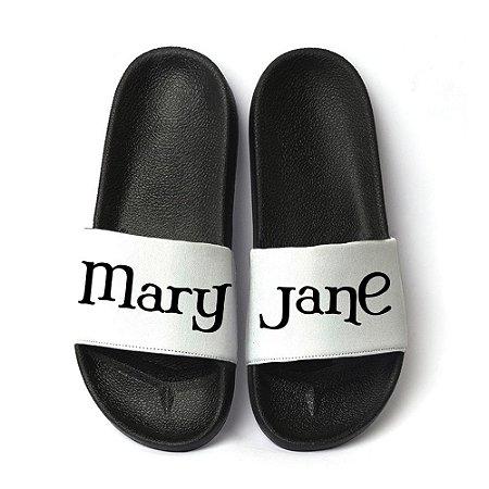 Chinelo Slide Sandalia Masculina Estampa Mary Jane