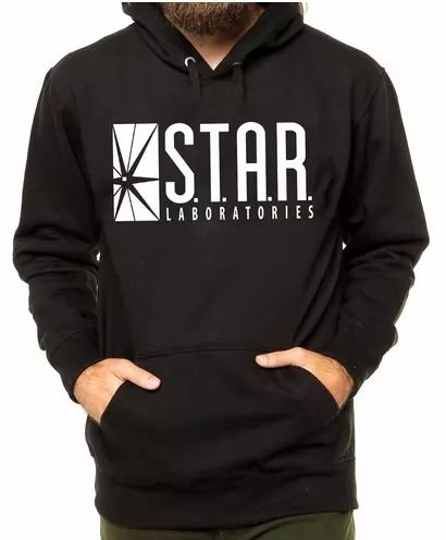 Blusa De Frio Star Labs Flash Estampa Full Moletom Unissex