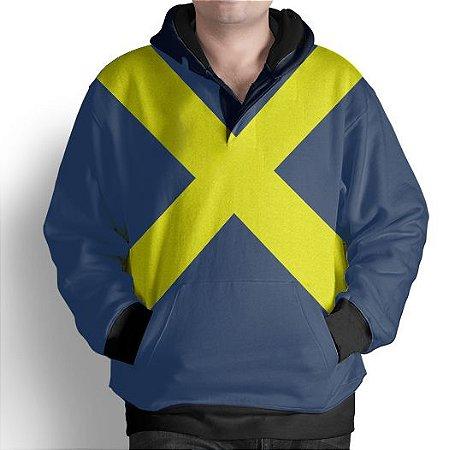 Blusa De Frio X-Men  Fenix Negra Estampa Full Moletom Unissex