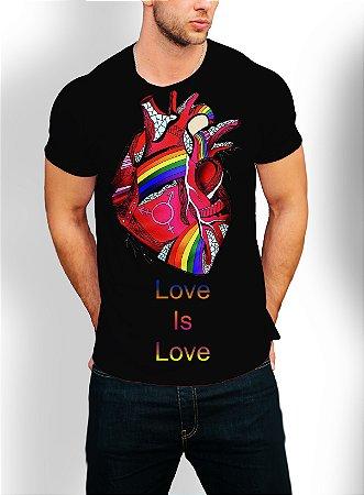 Camiseta Camisa Longline Estampa LGBT