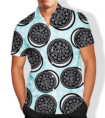 Camisa Masculina Social Full Estampada