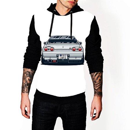 Blusa De Frio Moletom Full Estampado Nissan Skyline