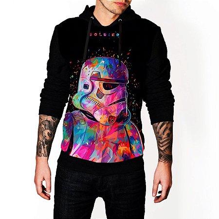 Blusa De Frio Moletom Full Estampado Star Wars Soldier