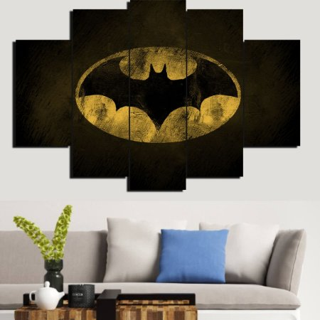 Painel Mosaico 5 Partes Batman