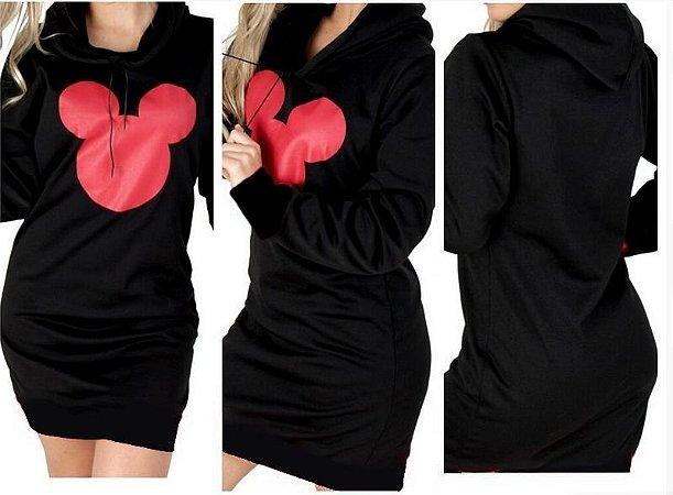 Vestido Feminino Moletom Mickey Lançamento
