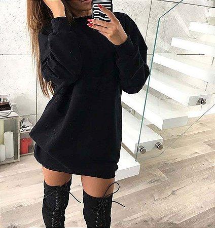 Vestido Feminino Moletom Liso Lançamento