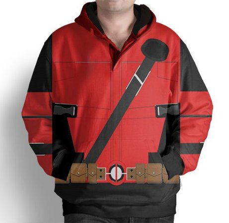 Blusa De Frio Moletom Full Estampado Deadpool