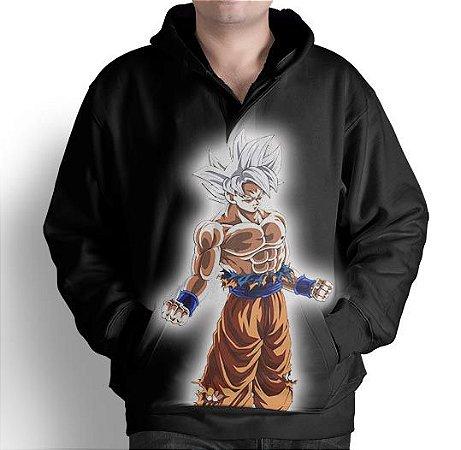 Blusa De Frio Moletom Full Estampado Goku