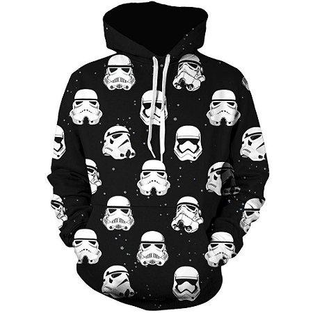 Blusa De Frio Moletom Full Estampado Star Wars