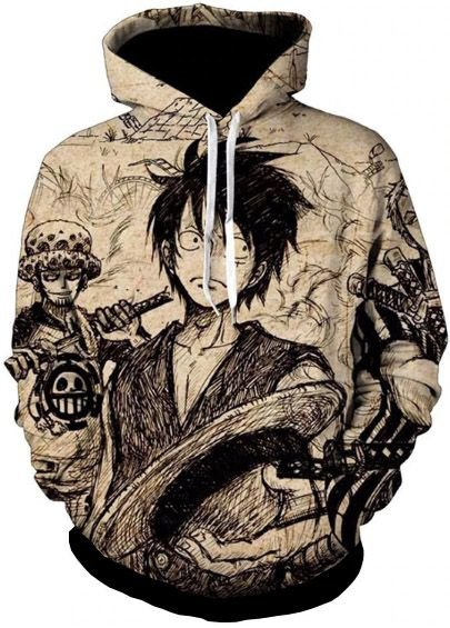 Blusa De Frio Moletom Full Estampado One Piece