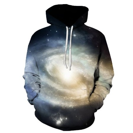 Blusa De Frio Moletom Full Print Estampado Galaxia