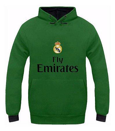 Moletom Canguru 3d Full Real Madrid Unissex