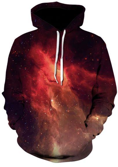 Blusa De Frio Moletom Full Print Estampado Nebulosa