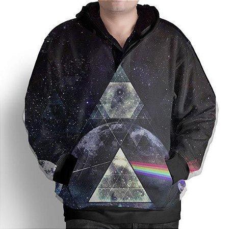 Blusa De Frio Moletom Full Print Estampado Galaxia Tumblr