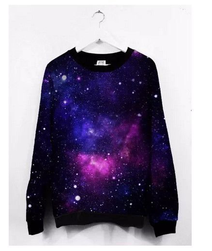 Blusa Moletom Roupa Galaxia Nebulosa Galaxy Star Tumblr Luxo