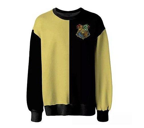 Blusa Moletom Hermione Lufa-lufa Hufflepuff Tribruxo Hp