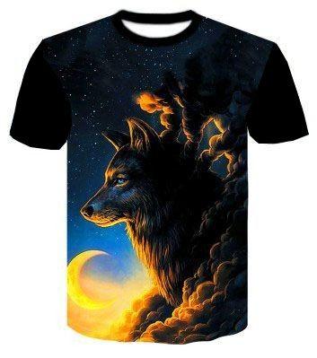Camisa Camiseta Lobo lunático