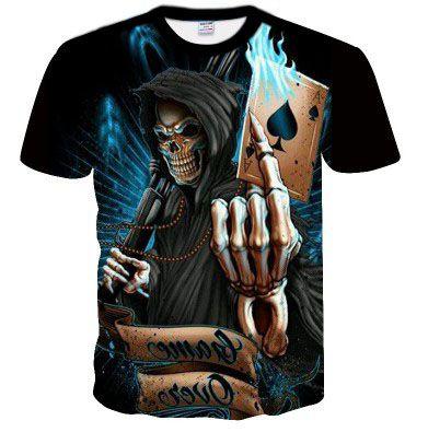 Camisa Camiseta Caveira
