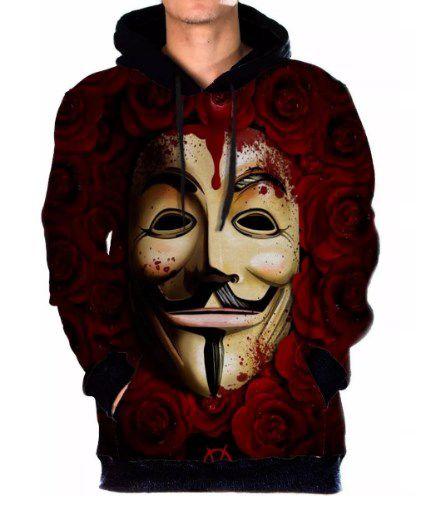 Moletom Canguru Full Unissex V De Vinganca Vendetta