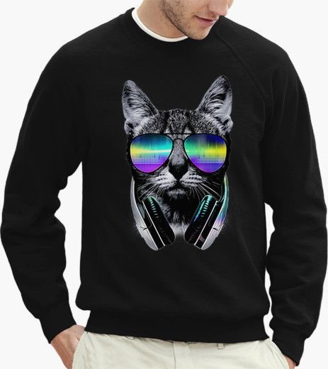 Moletom Capuz Bolso Gato Dj Music Swag 3d Geek Acid Full New