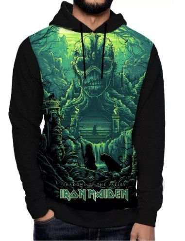 Blusa Iron Maiden Heavy Metal Fullface Gorro Bolso Rock 3d