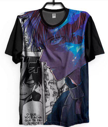 Camiseta Boku No Hero Shoto Todoroki Camisa Geek Anime Mangá