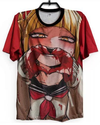 Camiseta Boku No Hero Anime Himiko Toga Love Blood Dark Geek