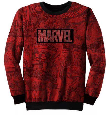 Blusa Moletom Marvel, Capitão America, Vingadores, Ironman