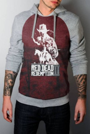 Blusa Moletom Full Red Dead