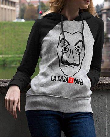 Blusa Moletom Vinil La Casa de Papel Unissex