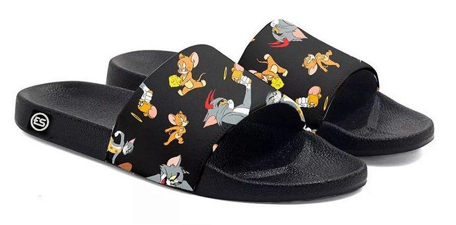 Chinelo Tom e Jerry Slide Sandalia Unissex