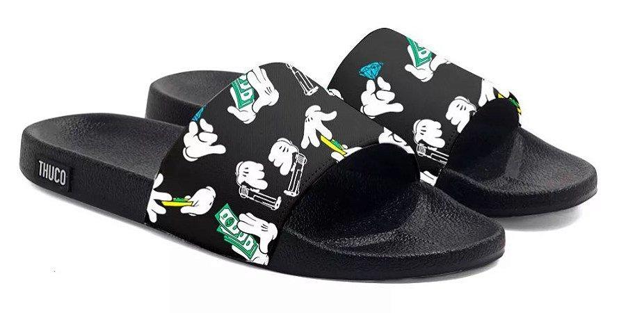 Chinelo Slide Dedo Mickey