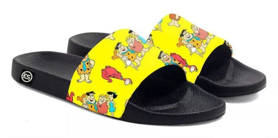 Chinelo Flintstones Slide Sandalia Unissex Top !