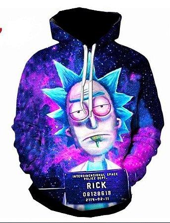 Blusa Agasalho Moletom Full Estampado Rick and morty
