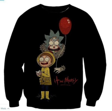 Blusa De Frio Estampa Full Moletom Unissex Rick and Morty