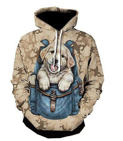 Blusa De Frio Moletom Full Estampado Cachorro
