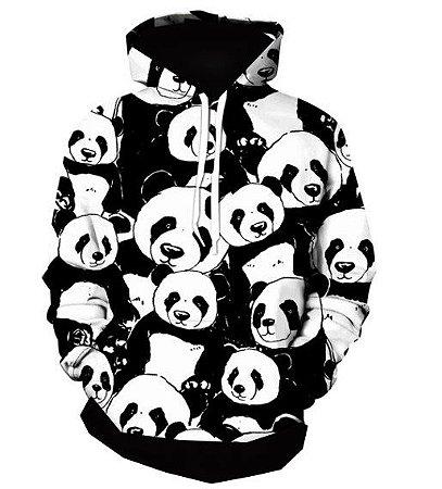 Blusa De Frio Moletom Full Estampado Panda
