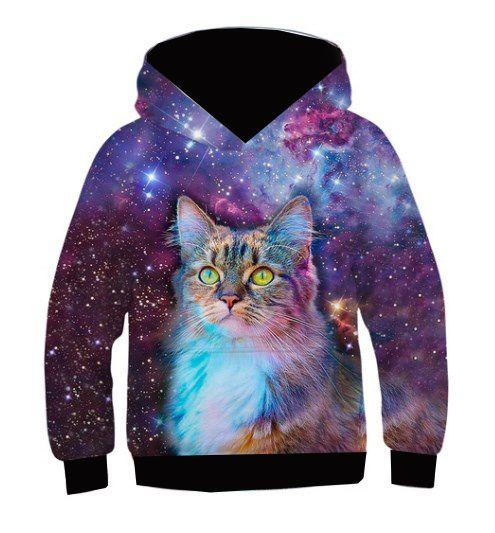 Blusa De Frio Moletom Full Estampado Gato